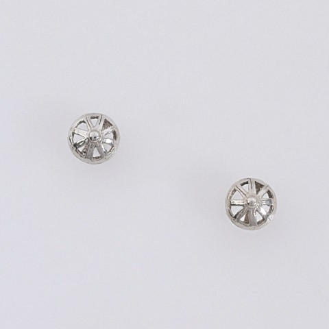 Silver earrings 925 rhodium plated