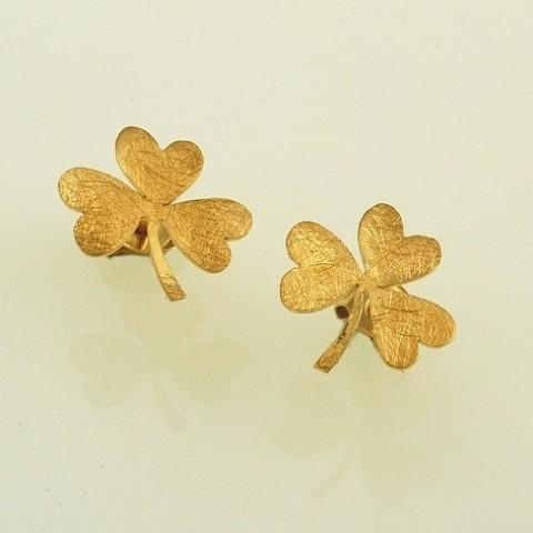 Σκουλαρίκια χειροποίητα από ασήμι 925 με επιχρύσωμα