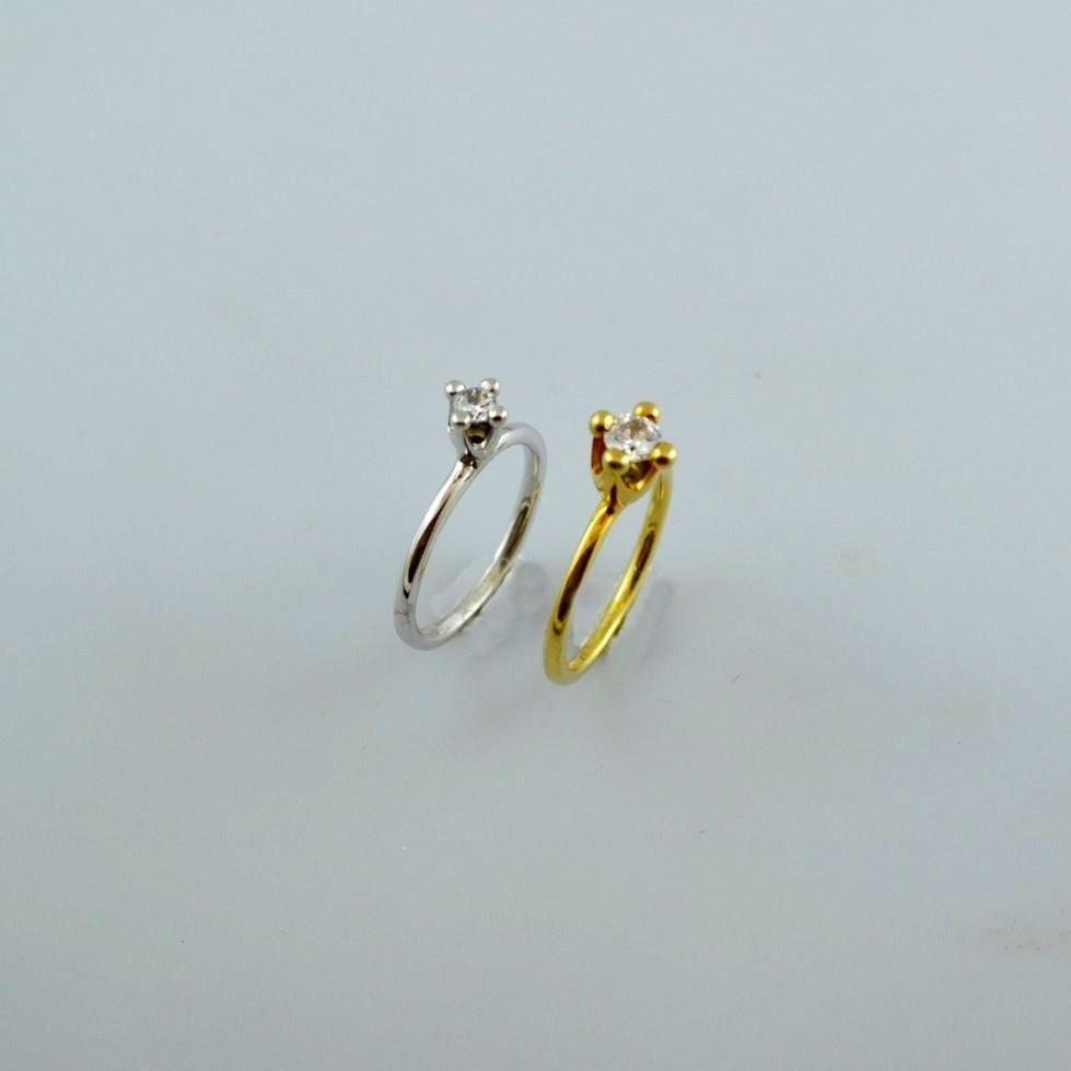 Χρυσό δαχτυλίδι 14Κ ή 18Κ μονόπετρο με διαμάντι ή ημιπολύτιμη πέτρα