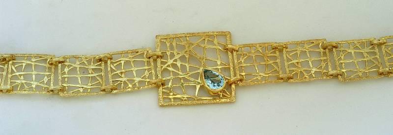 Χρυσό βραχιόλι 14Κ η' 18Κ με συνθετικές η' ημιπολύτιμες πέτρες