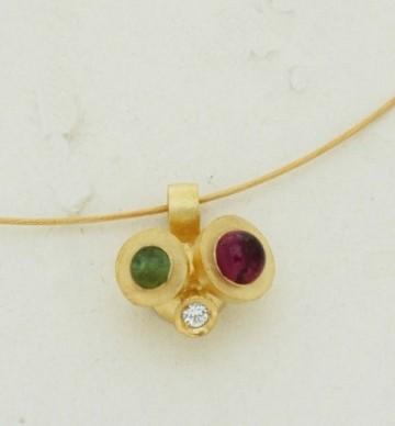 Χρυσο μενταγιον 14Κ η  18Κ με συνθετικες πετρες η  διαμαντια και  ημιπολυτιμες πετρες c8894dfc5f4