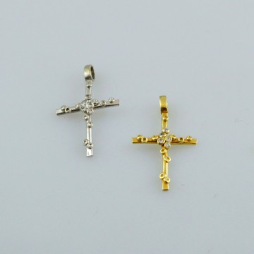 Σταυρος χειροποιητος χρυσος η λευκοχρυσος στα 14 η 18 καρατια με πολυτιμες  η ημιπολυτιμες πετρες η με κυβικα ζιρκονια dcba47ea8ee