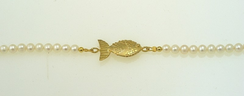 Bracelet handmade silver 925 gold plated with pearl