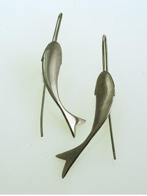 Silver earrings 925 black rhodium plated