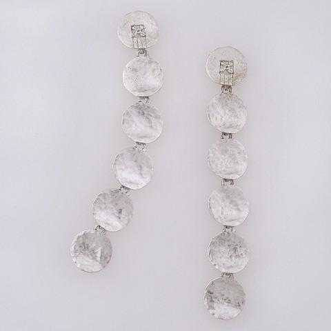 Silver earrings 925 rhodium plated