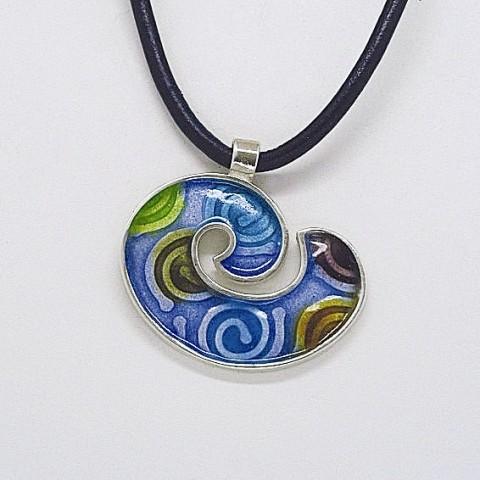 Silver pendant 925 with enamel