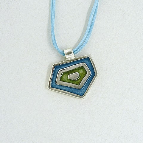 Silver pendant 925 with enamel