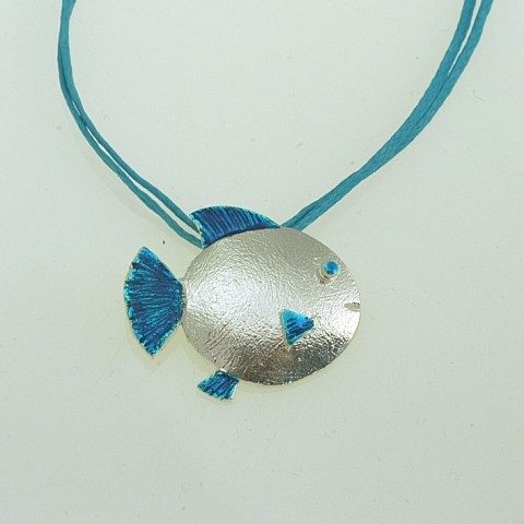 Silver pendant 925 rhodium plated with resin