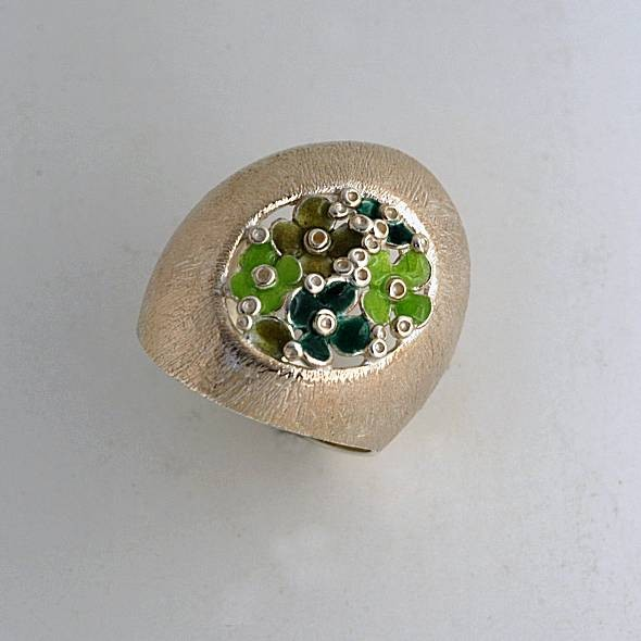 Silver ring 925 enameled