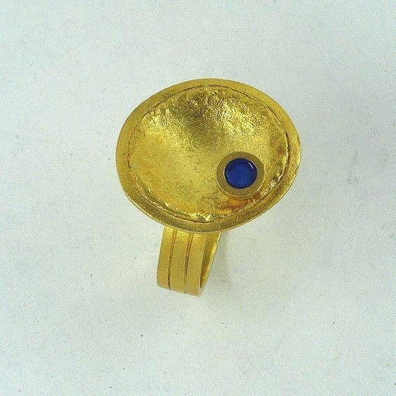 Gold ring 14K or 18K with enamel