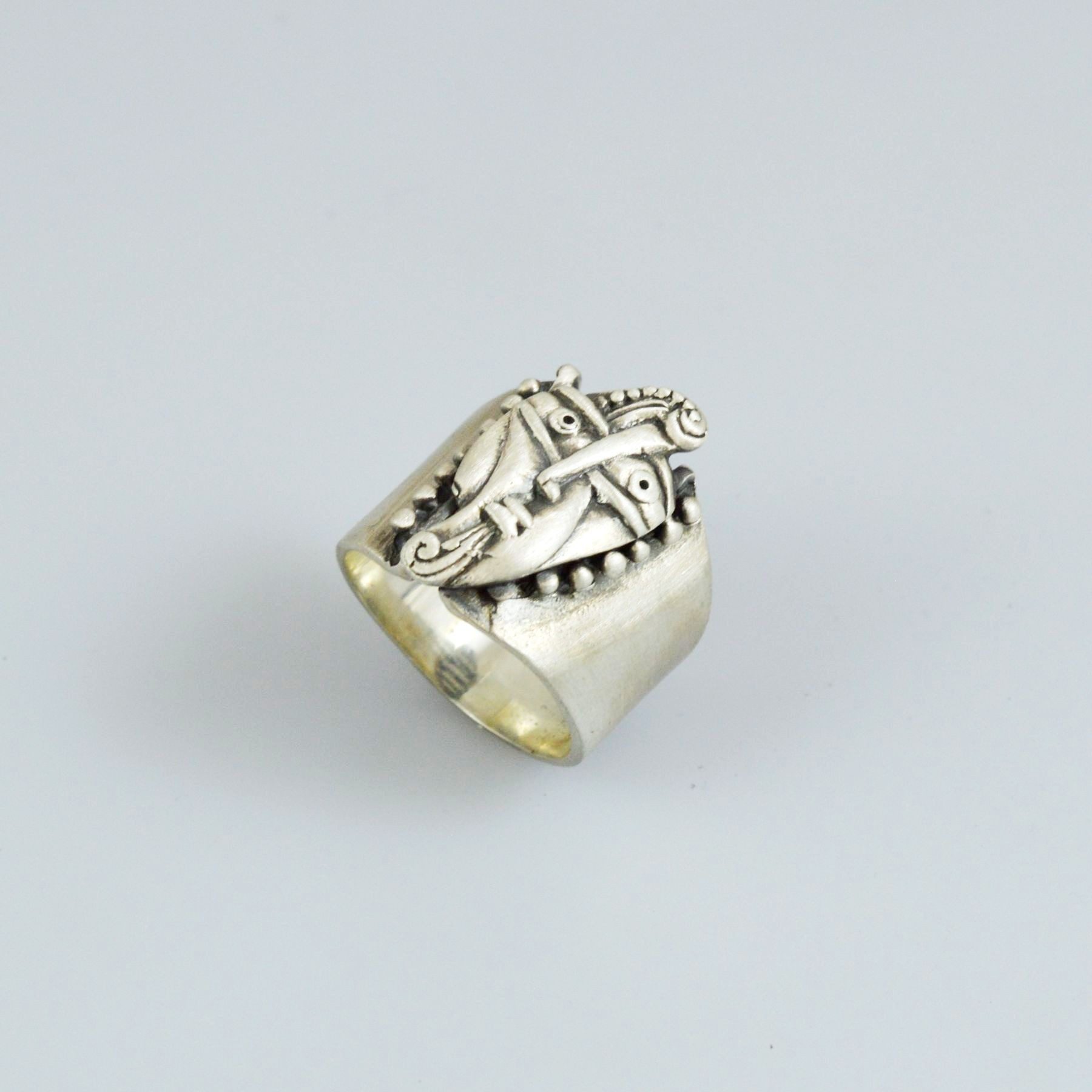 Handmade silver men ring 925