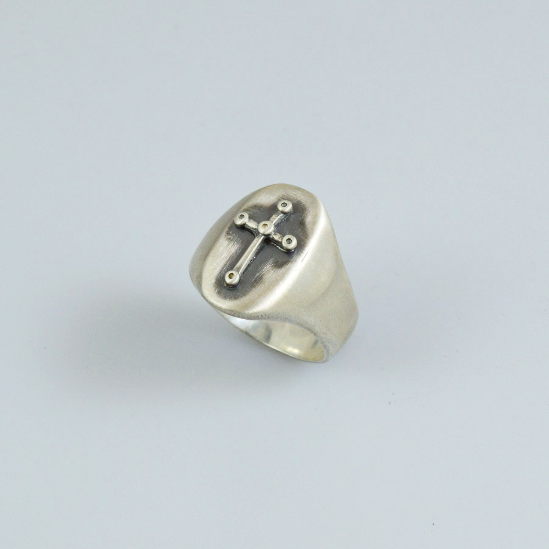 Handmade silver men ring 925