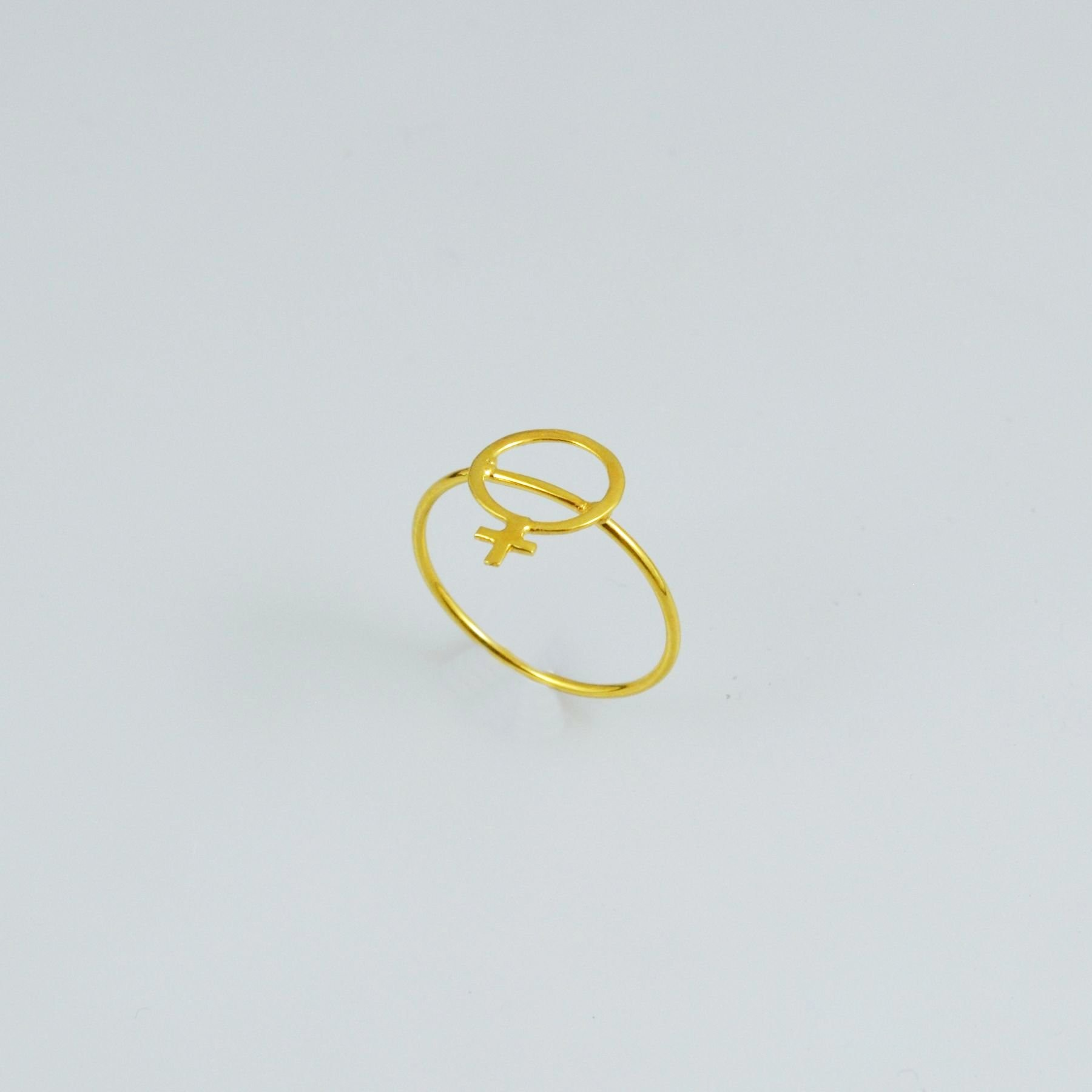 Handmade gold ring 14K