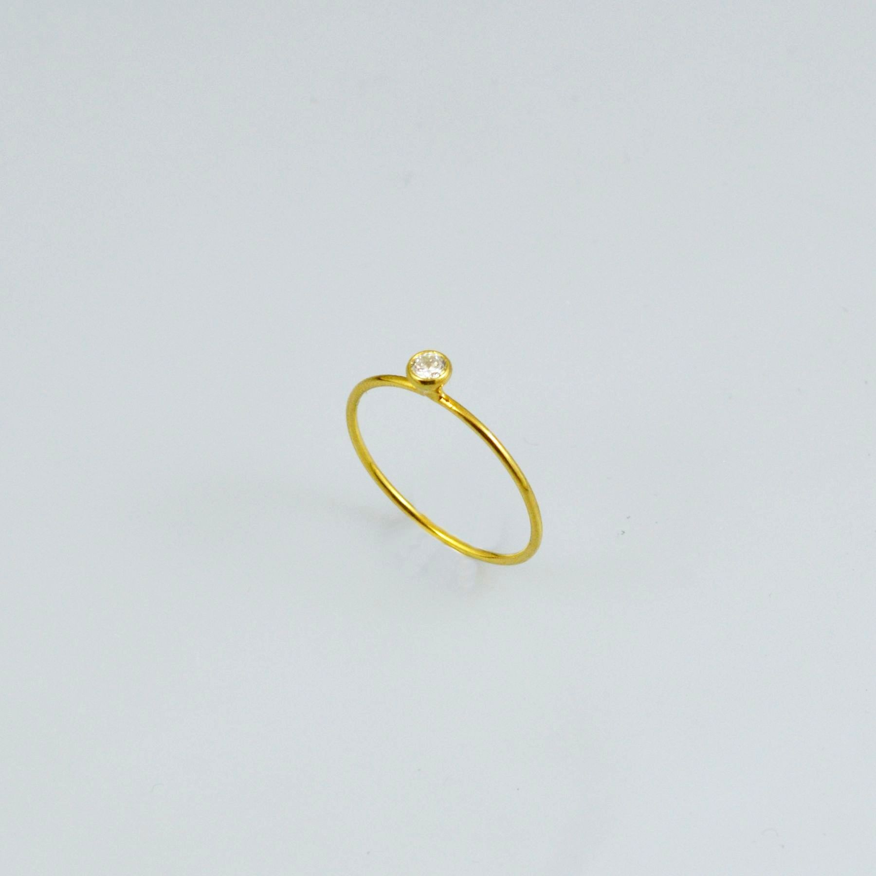 Handmade gold ring 14K with synthetic stones