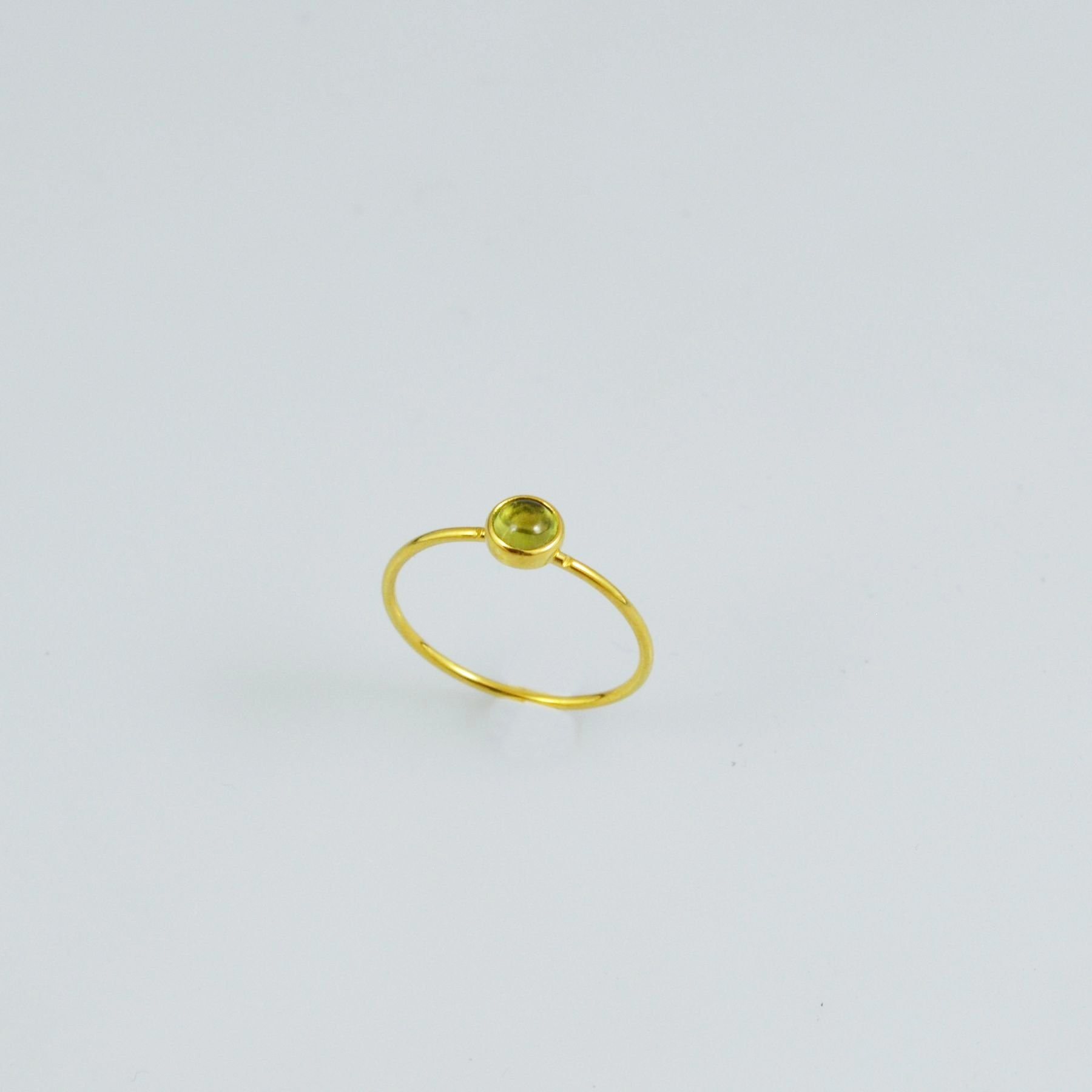 Handmade gold rings 14K with tourmaline stone