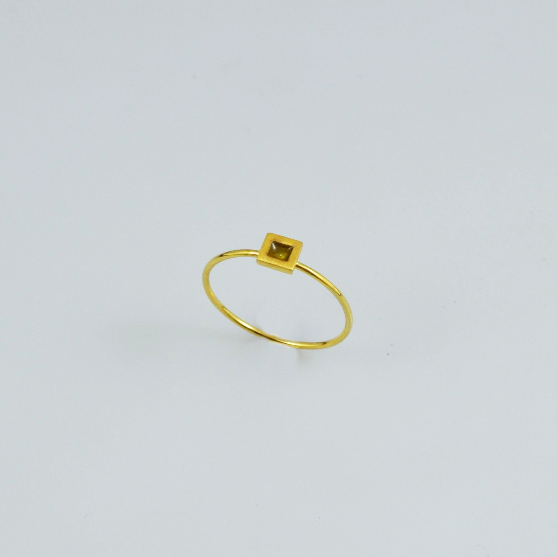 Handmade gold ring 14K with enamel