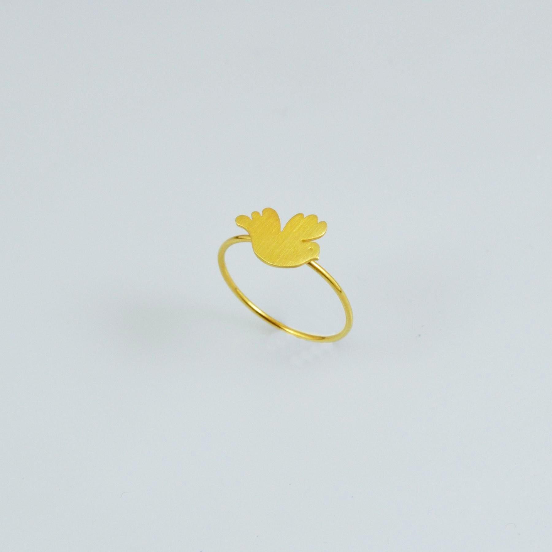 Handmade gold ring 14K