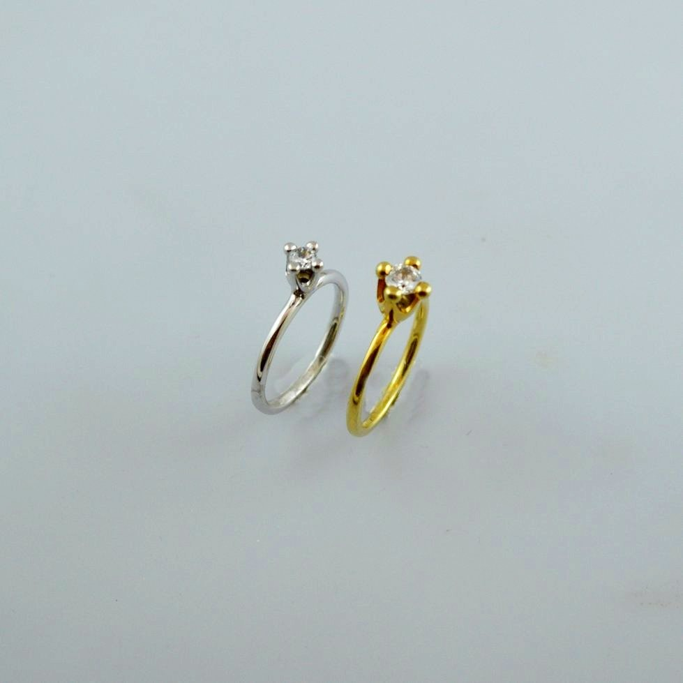 Gold or white gold ring 14K or 18K with diamonds brilliant cut