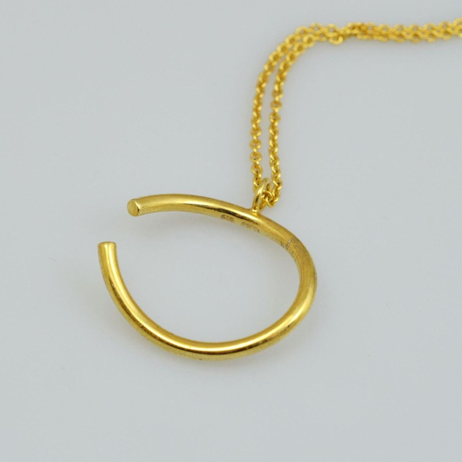 Silver pendant 925 gold plated