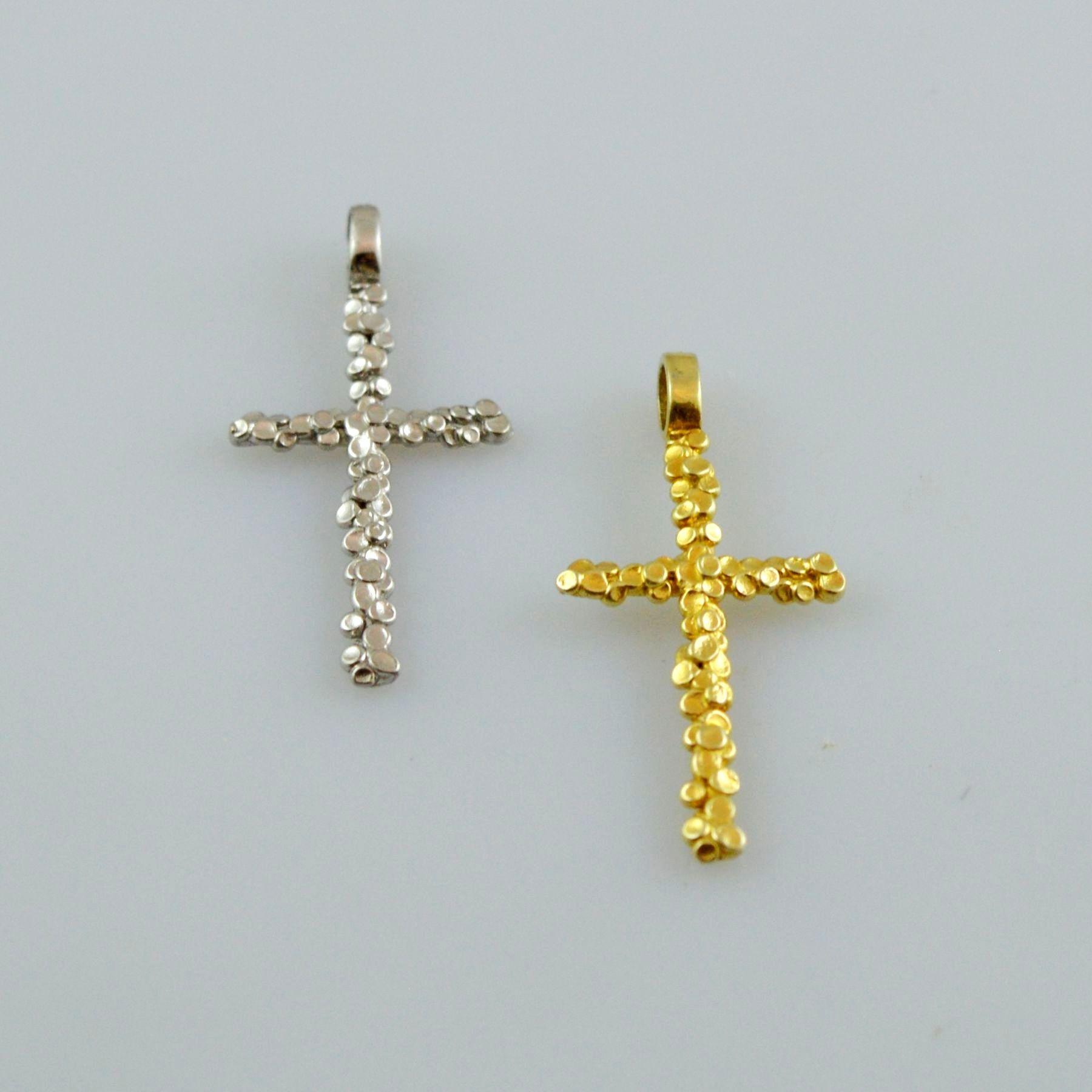 Gold or white gold cross 14K or 18K
