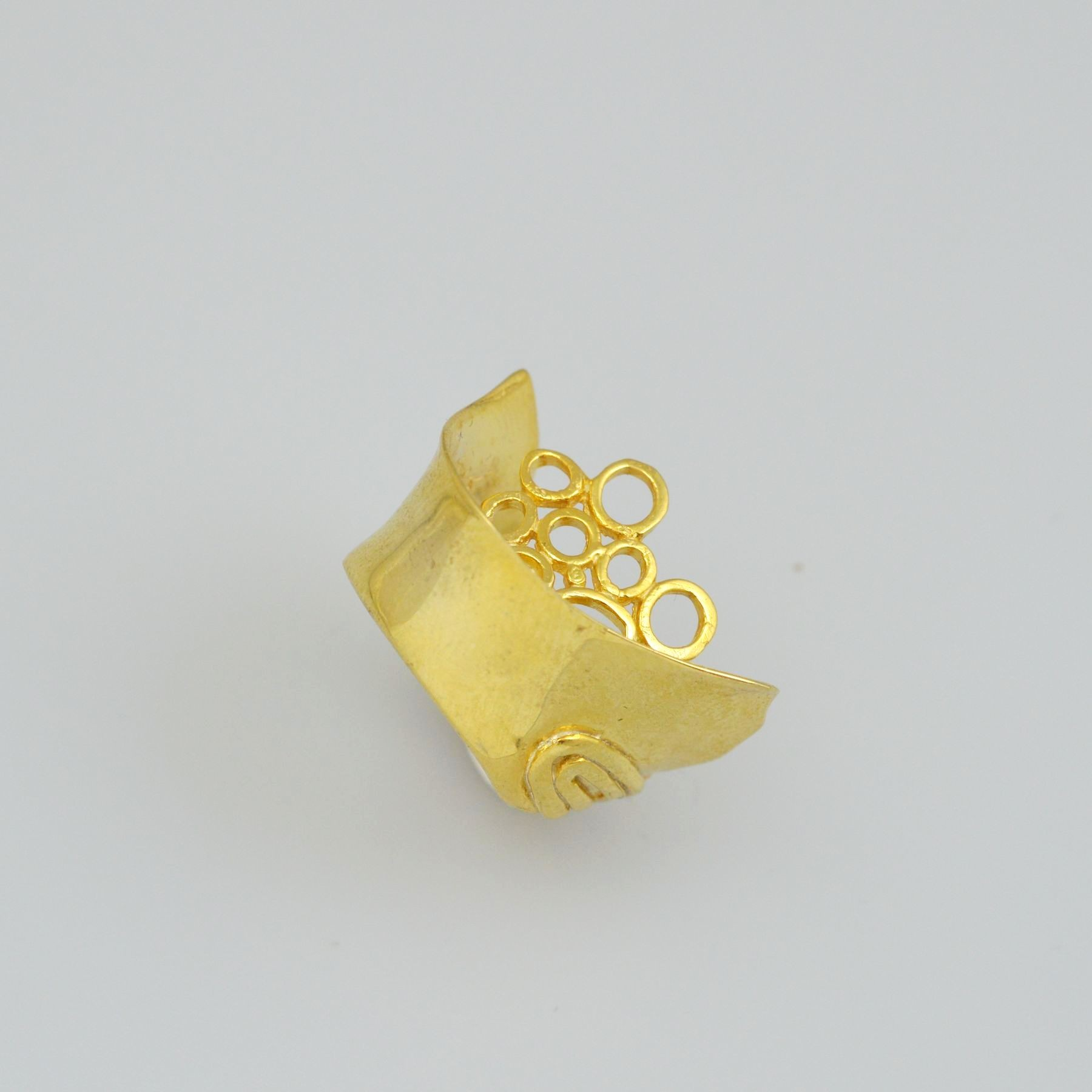 Silver ring 925 goldplated