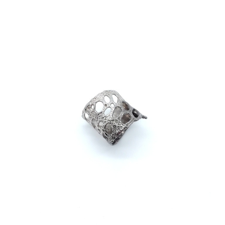 Silver handmade ring in sterling silver rhodium, black rhodium or gold plated