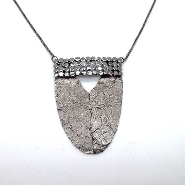 Silver necklace 925 black rhodium plated
