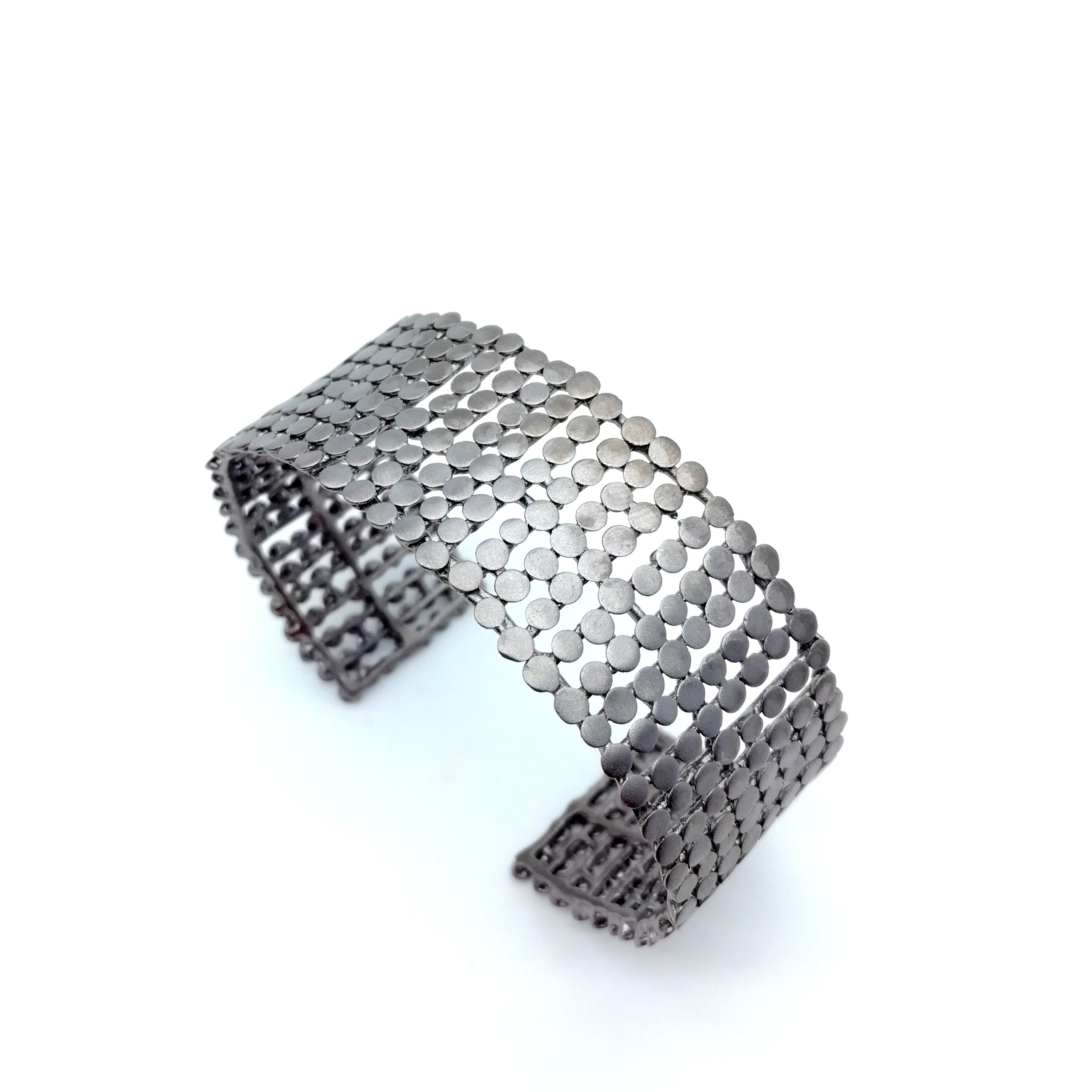 Silver bracelet 925 rhodium plated with tourmalines