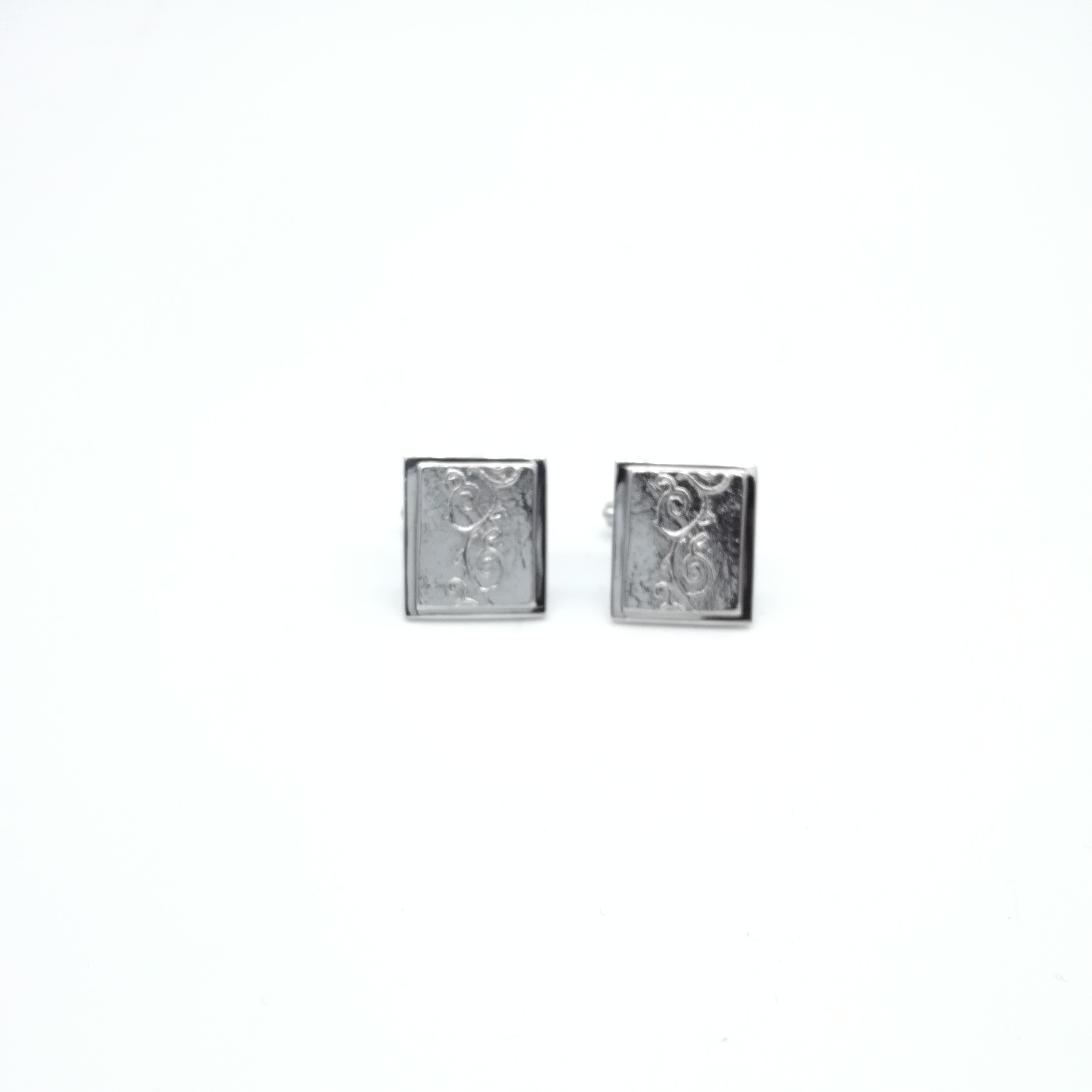 Silver cuff links 925 rhodium plated