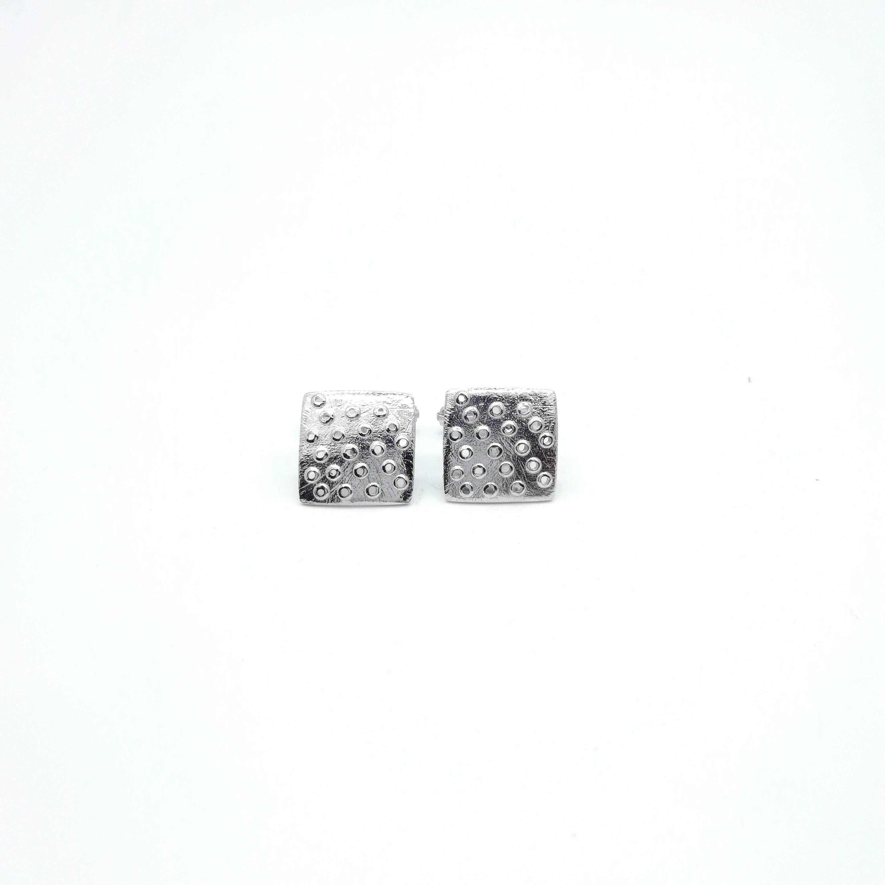 Silver cuff links 925 rhodium plated