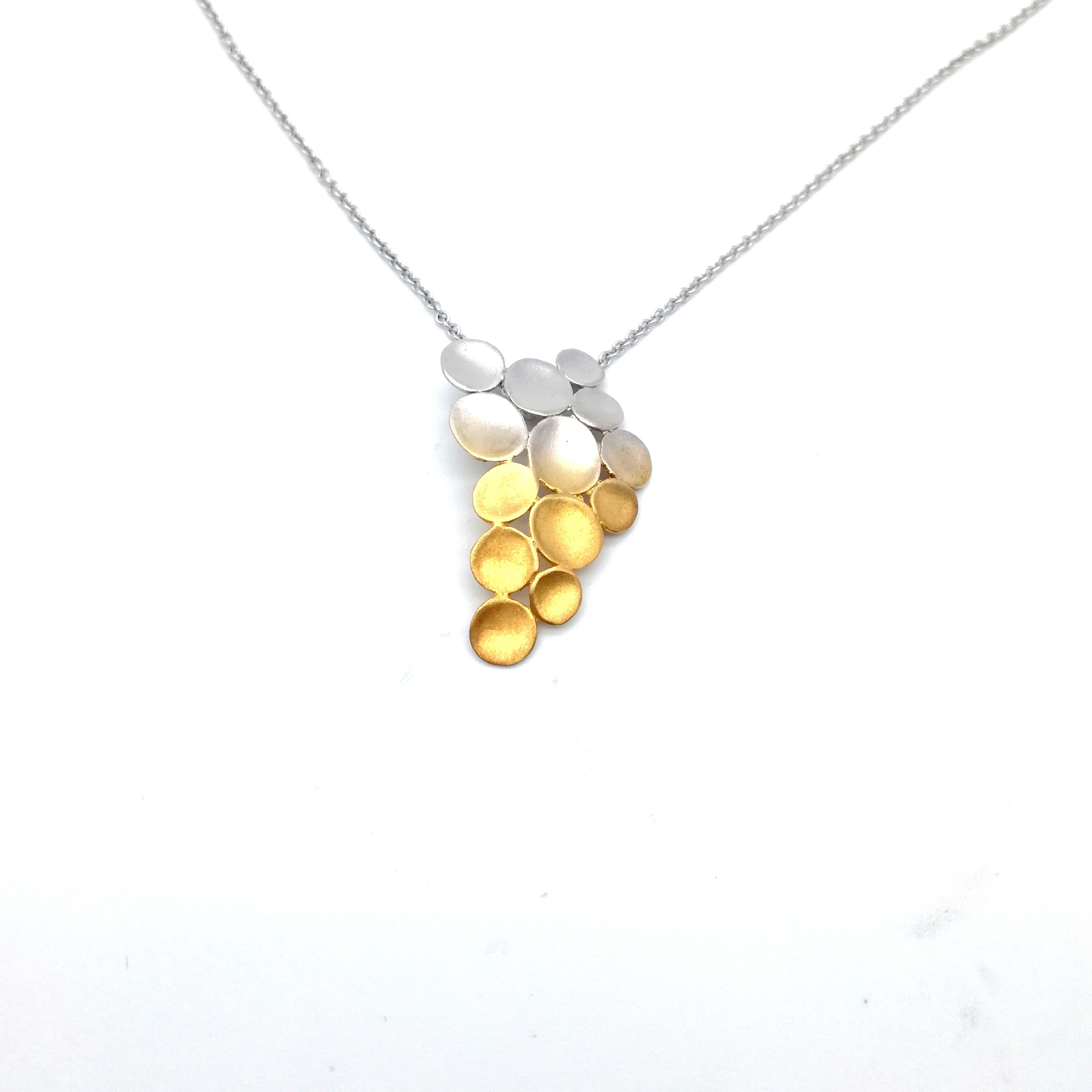 Silver pendant 925 rhodium and gold plated
