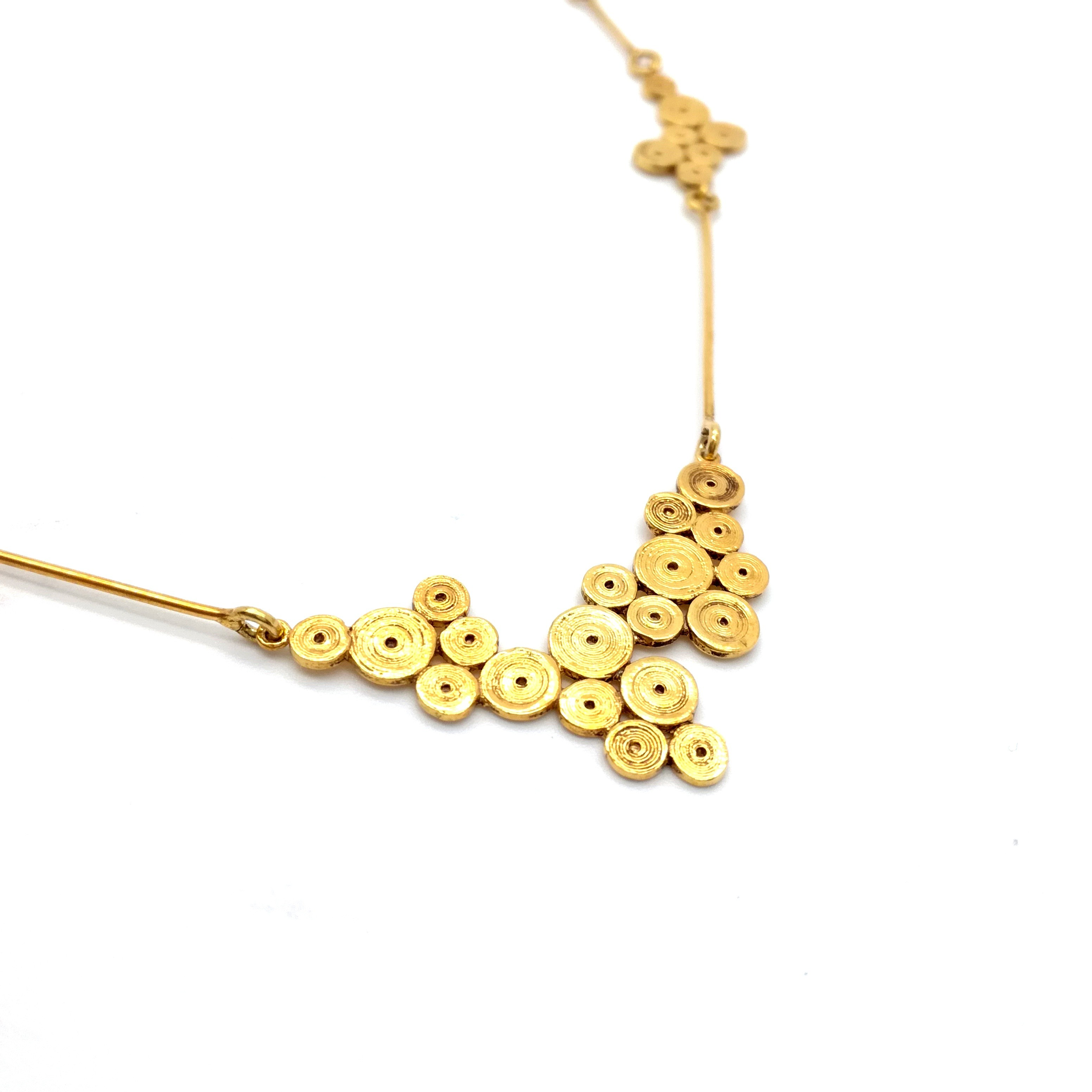 Silver necklace 925 gold plated