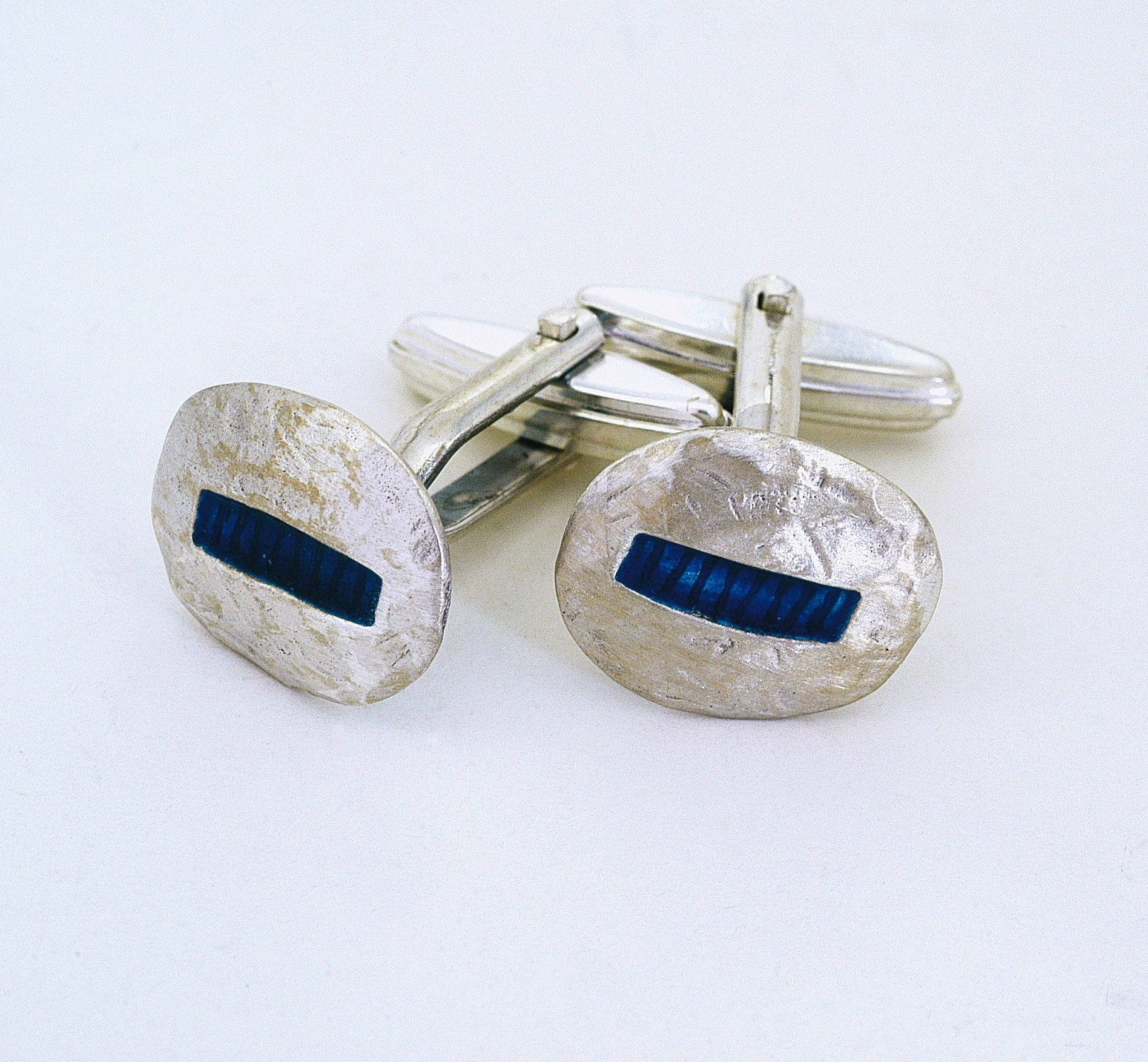 Silver cuff links 925 with enamel